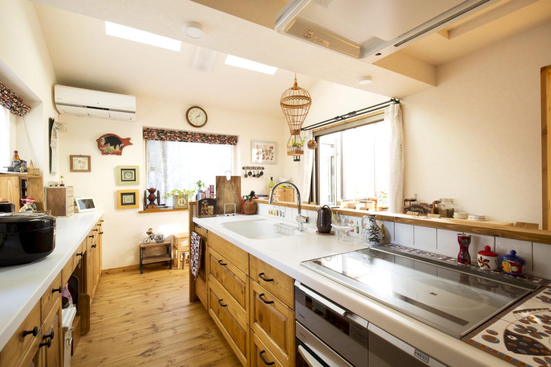 無垢材のナチュラルなオーダーキッチン
