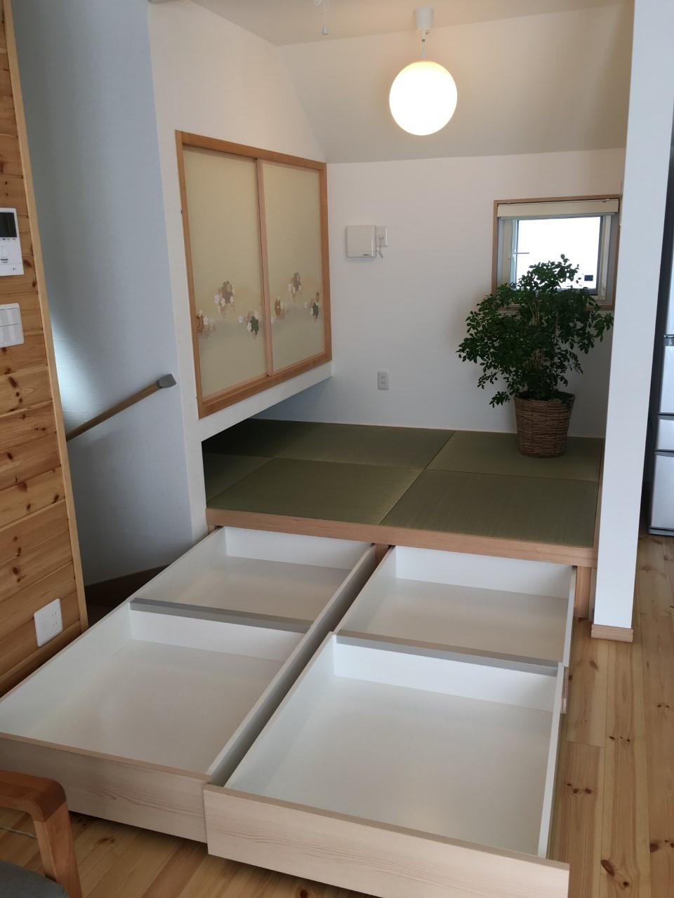大容量の畳下収納庫